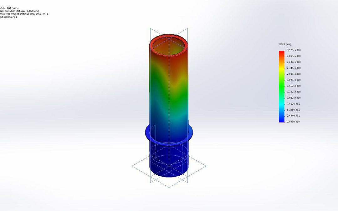 Simulation d'un impact sur nos bornes escamotables